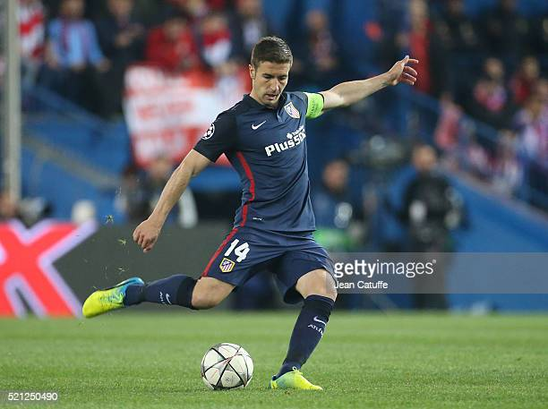 Gabi Fernandez Arenas of Atletico Madrid in action during the UEFA Champions League quarter final second leg match between Atletico Madrid and FC...