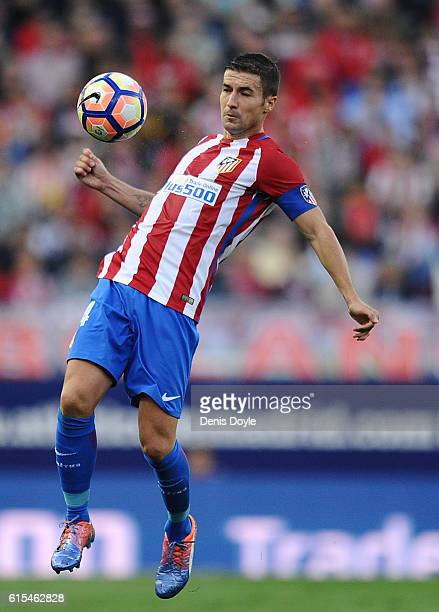 Gabi Fernandez of Club Atletico de Madrid controls the ball during the La Liga match between Club Atletico de Madrid and Granada CF at Vicente...