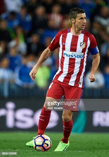 Gabi Fernandez of Club Atletico de Madrid in action during La Liga match between Malaga CF and Club Atletico de Madrid at La Rosaleda Stadium April...