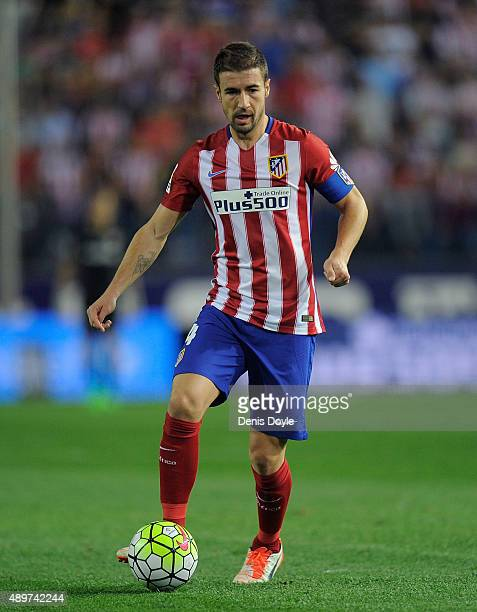 Gabi Fernandez of Club Atletico de Madrid in action during the La Liga match between Atletico de Madrid and Getafe at Vicente Calderon Stadium on...