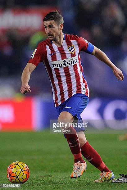 Gabi Fernandez of Club Atletico de Madrid in action during the La Liga match between Club Atletico de Madrid and Athletic Club at Vicente Calderon...