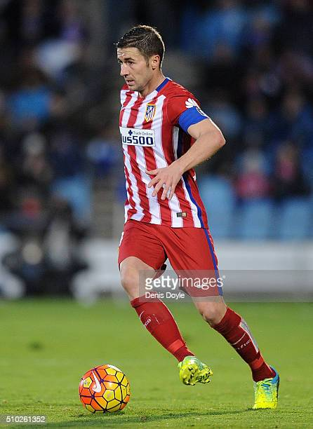 Gabi Fernandez of Club Atletico de Madrid in action during the La Liga match between Getafe CF and Club Atletico de Madrid at Coliseum Alfonso Perez...