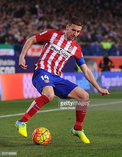 Gabi Fernandez of Club Atletico de Madrid in action during the La Liga match between Club Atletico de Madrid and Villarreal CF at Vicente Calderon...