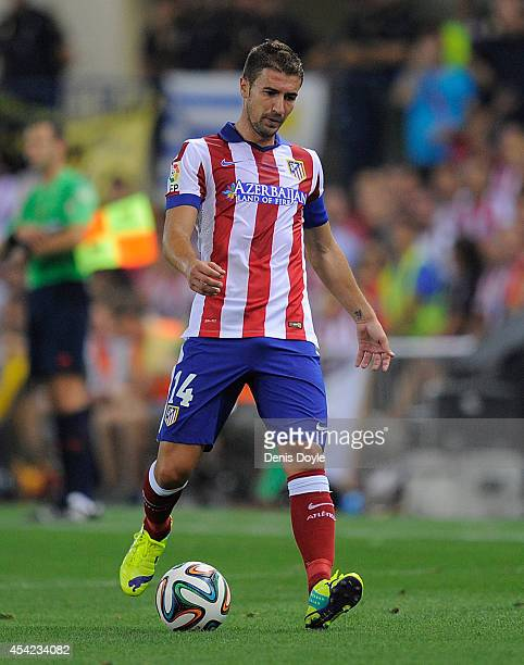 Gabi Fernandez of Club Atletico de Madrid in action during the Supercopa second leg match between Club Atletico de Madrid and Real Madrid at Vicente...