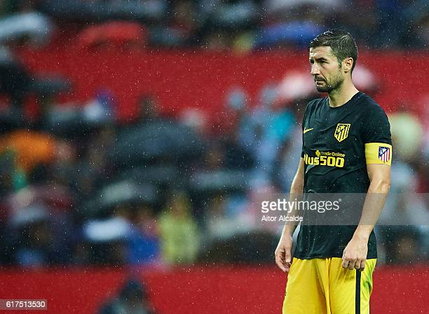 Gabi Fernandez of Club Atletico de Madrid looks on during the match between Sevilla FC vs Club Atletico de Madrid as part of La Liga at Estadio Ramon...