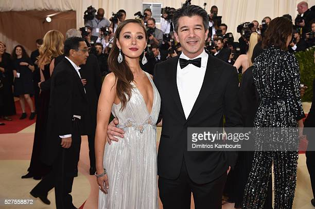 Gabi Holzwarth and Travis Kalanick attend the 'Manus x Machina Fashion In An Age Of Technology' Costume Institute Gala at Metropolitan Museum of Art...