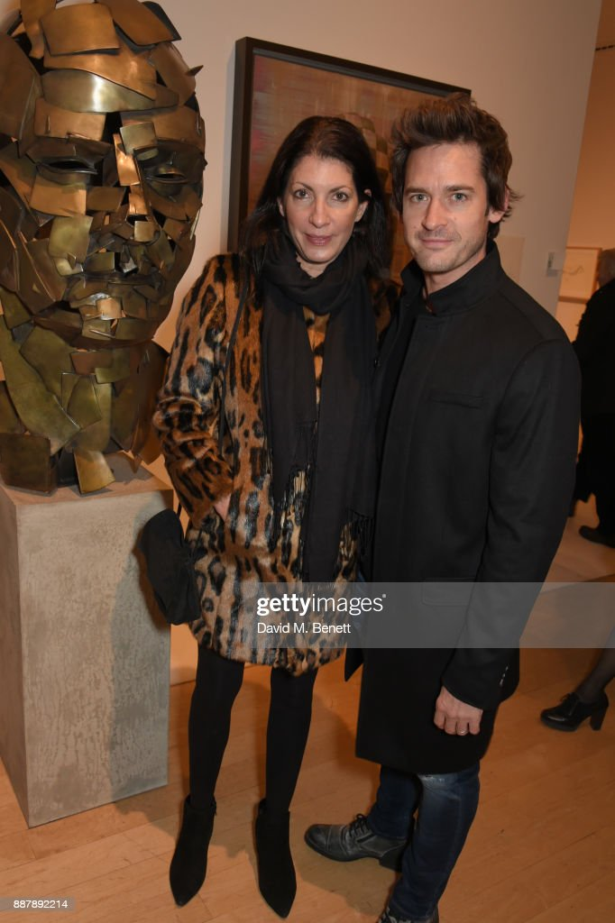 Gabi Kemp (L) and Will Kemp attend a private view of new exhibition 'From Life' at The Royal Academy of Arts on December 7, 2017 in London, England.
