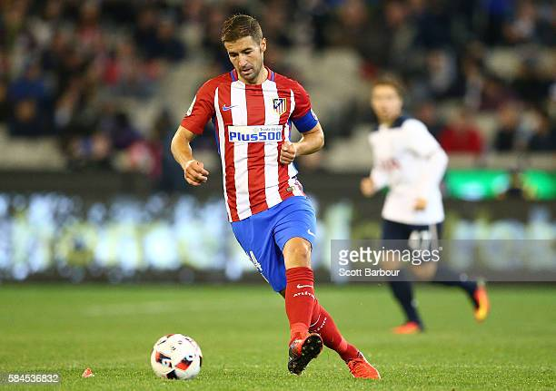 Gabi of Atletico de Madrid competes for the ball during 2016 International Champions Cup Australia match between Tottenham Hotspur and Atletico de...