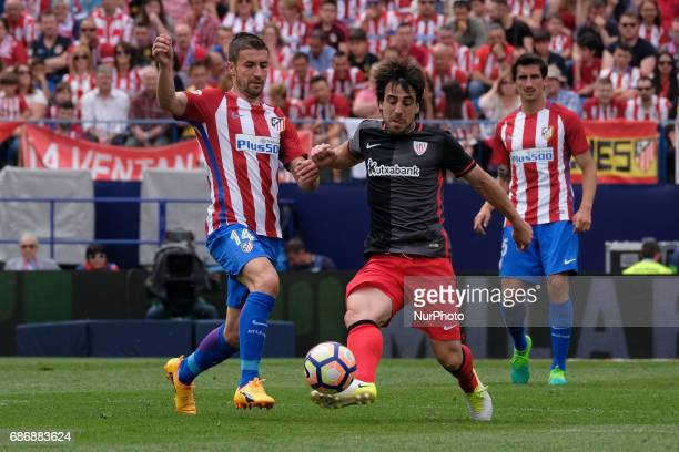 Gabi of Atletico de Madrid during The La Liga match between Club Atletico de Madrid and Athletic Bilbao at Vicente Calderon on May 21 2017 in Madrid...