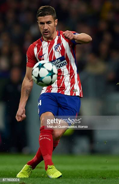 Gabi of Atletico de Madrid in action during the UEFA Champions League group C match between Atletico Madrid and AS Roma at Estadio Wanda...