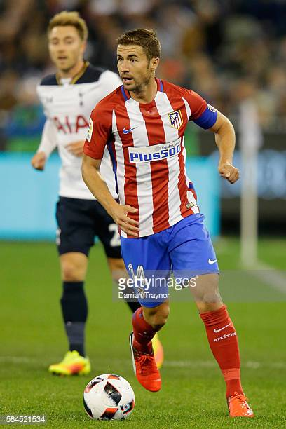 Gabi of Atletico Madrid controls the ball during 2016 International Champions Cup Australia match between Tottenham Hotspur and Atletico de Madrid at...