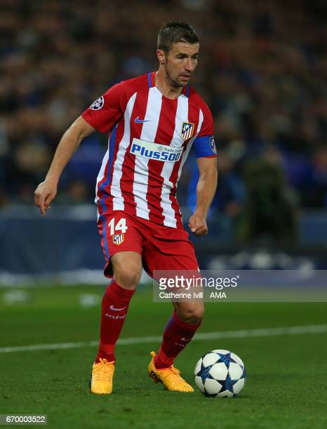 Gabi of Atletico Madrid during the UEFA Champions League Quarter Final second leg match between Leicester City and Club Atletico de Madrid at The...