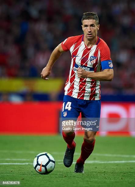 Gabi of Atletico Madrid in action during the La Liga match between Atletico Madrid and Malaga at Wanda Metropolitano stadium on September 16 2017 in...