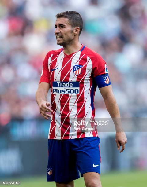 Gabi of Atletico Madrid looks on during Club Atletico de Madrid and SSC Napoli at Allianz Arena on August 1 2017 in Munich Germany