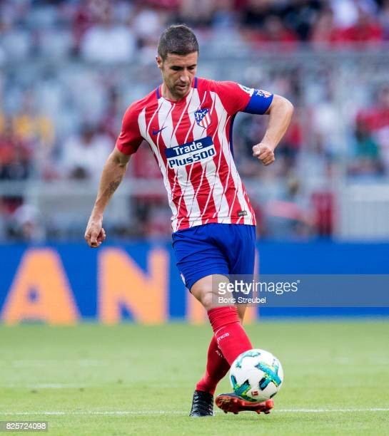 Gabi of Atletico Madrid runs with the ball during the Audi Cup 2017 match between Club Atletico de Madrid and SSC Napoli at Allianz Arena on August 1...