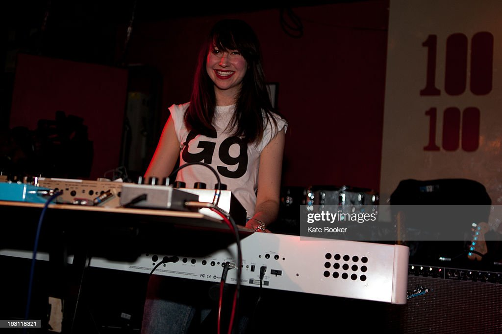 Gabi Woo of MT supporting Palma Violets performs on stage at The 100 Club on March 4, 2013 in London, England.