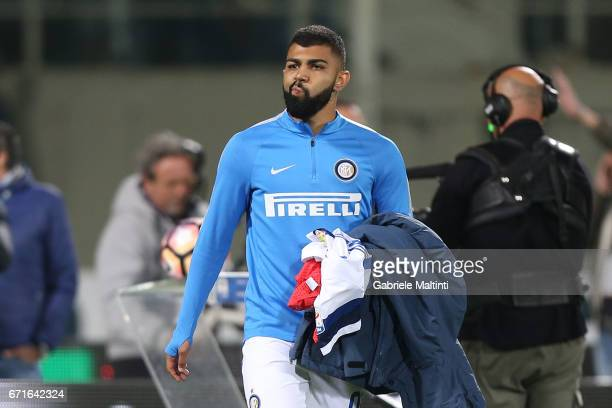 Gabigol of FC Internazionale during the Serie A match between ACF Fiorentina v FC Internazionale at Stadio Artemio Franchi on April 22 2017 in...