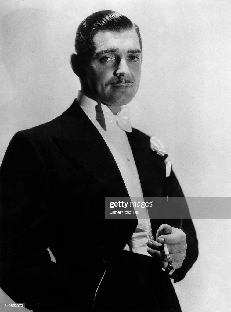 Gable, Clark *-+Schauspieler, USA- in dem Film 'Nach Bueroschluss'- 1936