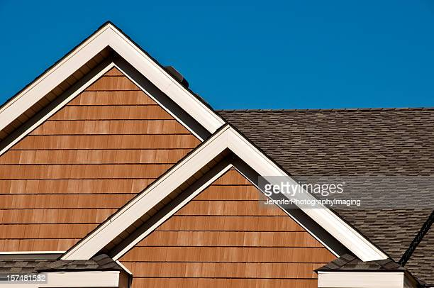 Roof dormer styles stock photos and pictures getty images for Roof lines