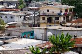 Gabon, Libreville, suburban housing.