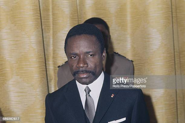 Gabonese politician and President of Gabon Omar Bongo pictured attending a conference in 1971