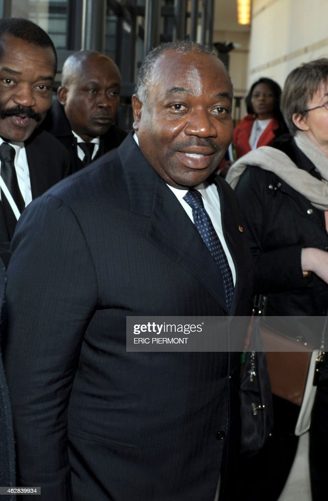 Gabonese President <a gi-track='captionPersonalityLinkClicked' href=/galleries/search?phrase=Ali+Bongo+Ondimba&family=editorial&specificpeople=6166342 ng-click='$event.stopPropagation()'>Ali Bongo Ondimba</a> attends the Franco-African forum at the Economy Ministry in Paris on February 6, 2015.