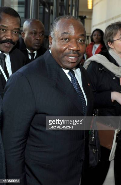 Gabonese President Ali Bongo Ondimba attends the FrancoAfrican forum at the Economy Ministry in Paris on February 6 2015 AFP PHOTO / ERIC PIERMONT