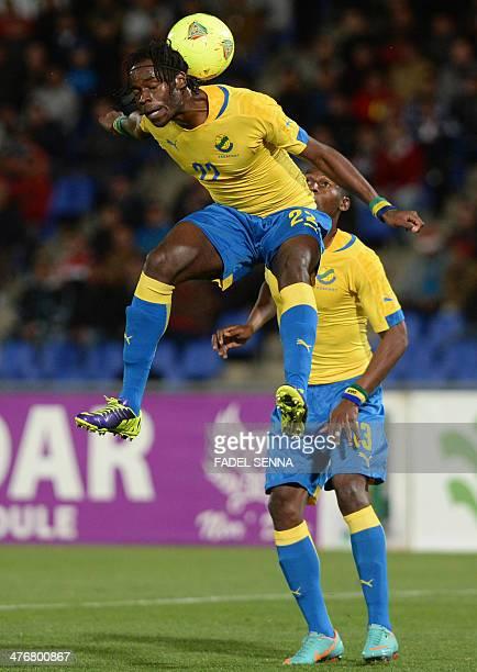 Gabon's Yrondu Muavu King controls a ball during an international friendly match against Morocco in Marrakech on March 5 2014 AFP PHOTO/FADEL SENNA