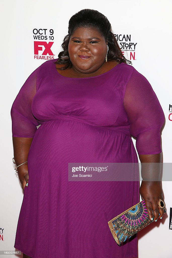 Gabourey Sidibe arrives at FX's 'American Horror Story: Coven' - Los Angeles premiere screening at Pacific Design Center on October 5, 2013 in West Hollywood, California.