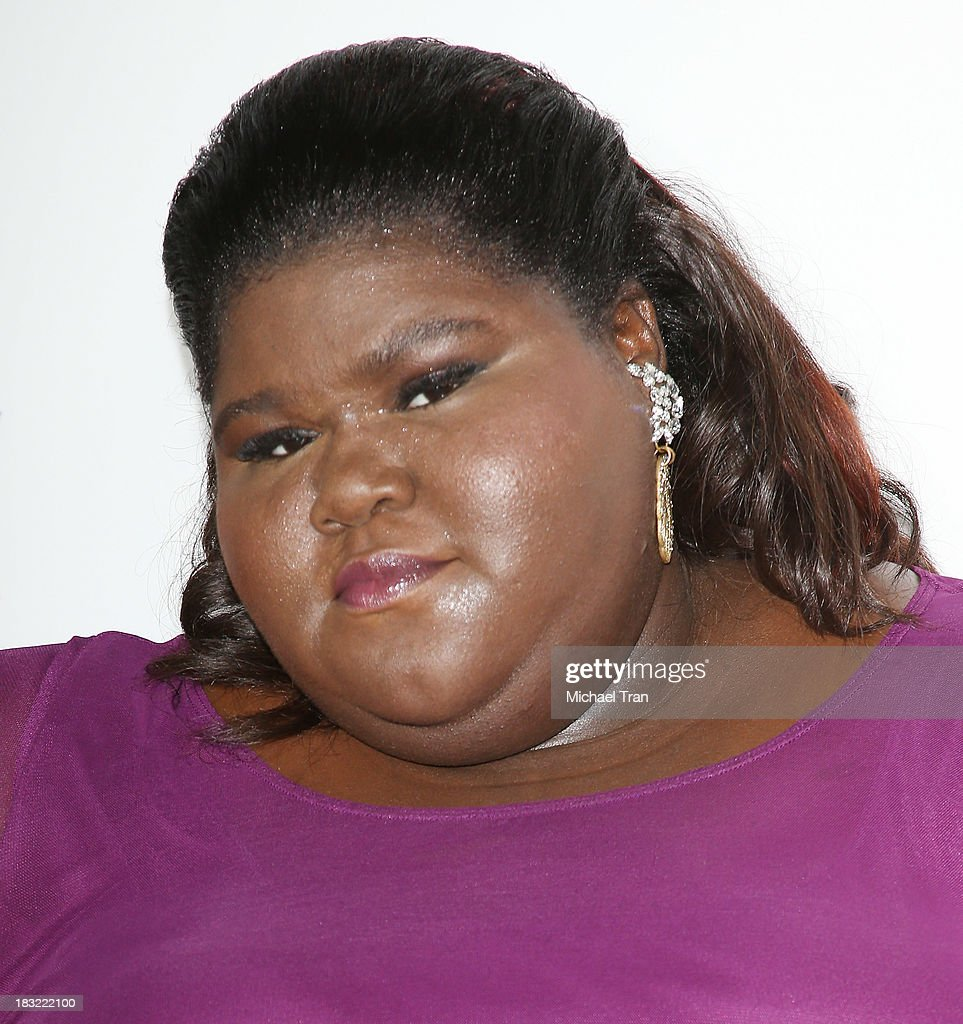 <a gi-track='captionPersonalityLinkClicked' href=/galleries/search?phrase=Gabourey+Sidibe&family=editorial&specificpeople=5667783 ng-click='$event.stopPropagation()'>Gabourey Sidibe</a> arrives at the premiere of FX's 'American Horror Story: Coven' held at Pacific Design Center on October 5, 2013 in West Hollywood, California.