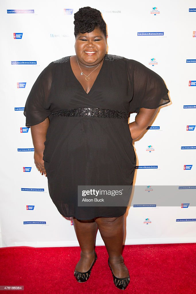 Gabourey Sidibe attends American Cancer Society's Birthday Ball at The Beverly Hilton Hotel on June 6 2015 in Beverly Hills California