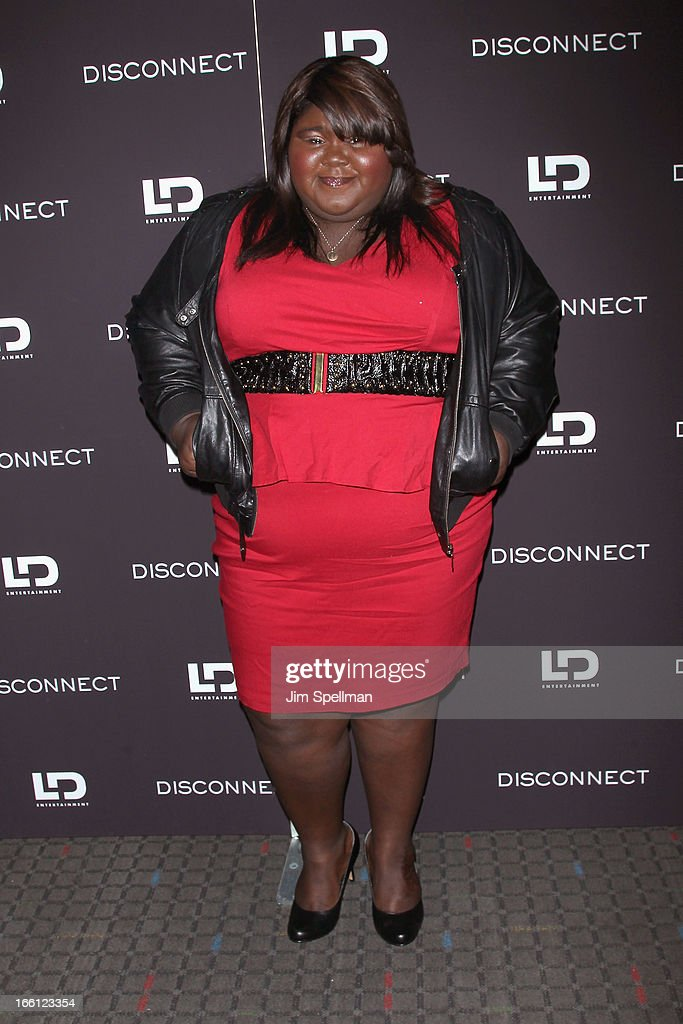 Gabourey Sidibe attends 'Disconnect' New York Special Screening at SVA Theater on April 8, 2013 in New York City.