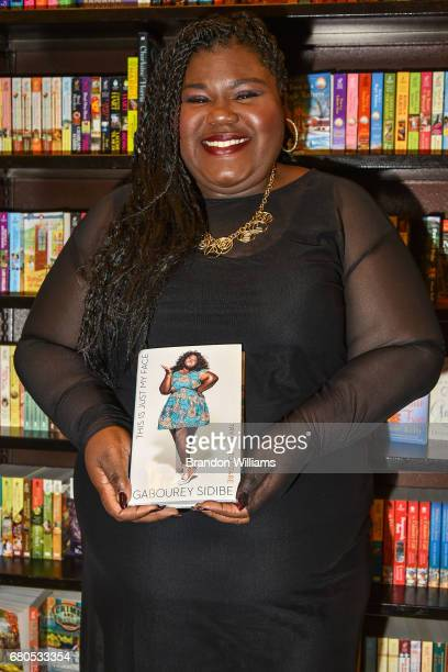 Gabourey Sidibe attends her book signing and discussion for 'This Is Just My Face Try Not To Stare' at Barnes Noble at The Grove on May 8th 2017