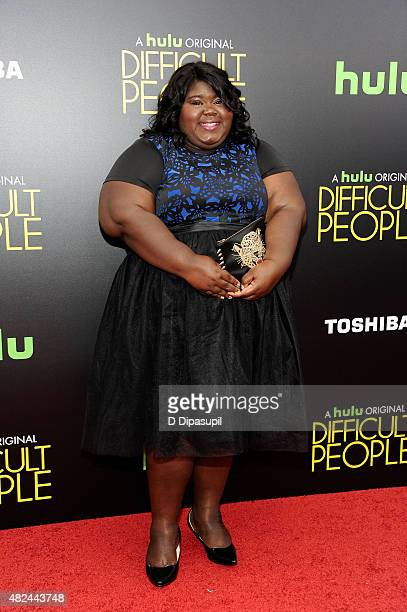 Gabourey Sidibe attends the 'Difficult People' New York Premiere at the School of Visual Arts Theater on July 30 2015 in New York City