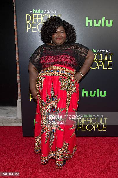 Gabourey Sidibe attends the 'Difficult People' New York premiere at The Metrograph on July 11 2016 in New York City