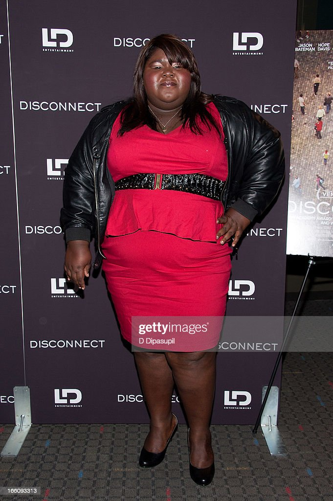 Gabourey Sidibe attends the 'Disconnect' New York Special Screening at SVA Theater on April 8, 2013 in New York City.
