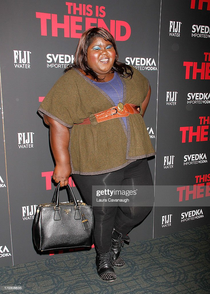 Gabourey Sidibe attends 'This Is The End' New York Premiere at Sunshine Landmark on June 10, 2013 in New York City.