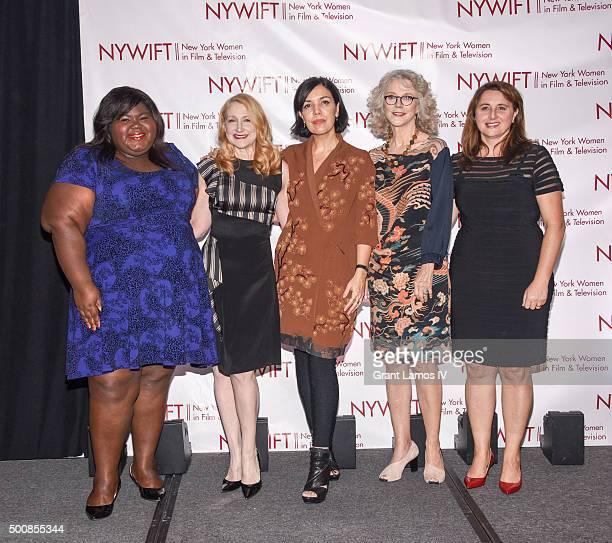 Gabourey Sidibe Patricia Clarkson Sarah Barnett Blythe Danner and Victoria Alonso attend the New York Women In Film And Television's 35th Annual Muse...