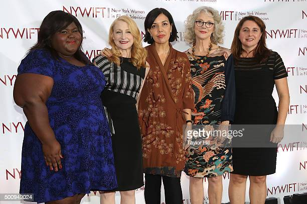 Gabourey Sidibe Patricia Clarkson Sarah Barnett Blythe Danner and Victoria Alonso attend New York Women In Film And Television's 35th Annual Muse...