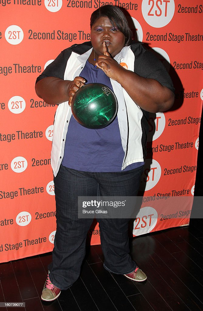 Gabourey Sidibe poses at Second Stage Theatre's 26th Annual All-Star Bowling Classic at Lucky Strike on February 4, 2013 in New York City.