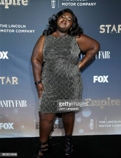Gabourney Sidibe attends 'Empire' and 'Star' celebrate FOX's new Wednesday night at One World Observatory on September 23 2017 in New York City