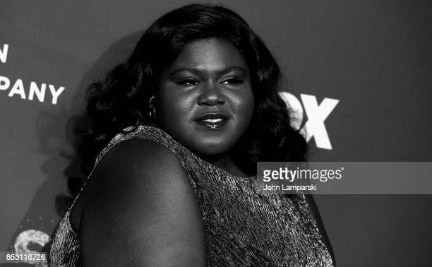 Gabourney Sidibe attends 'Empire' 'Star' celebrate FOX's New Wednesday Night at One World Observatory on September 23 2017 in New York City
