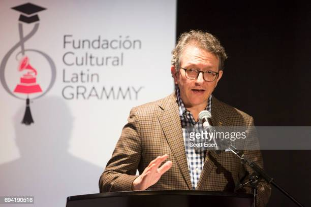 Gabriel Abaroa President and CEO of The Latin Recording Academy at Berklee College of Music on June 9 2017 in Boston Massachusetts