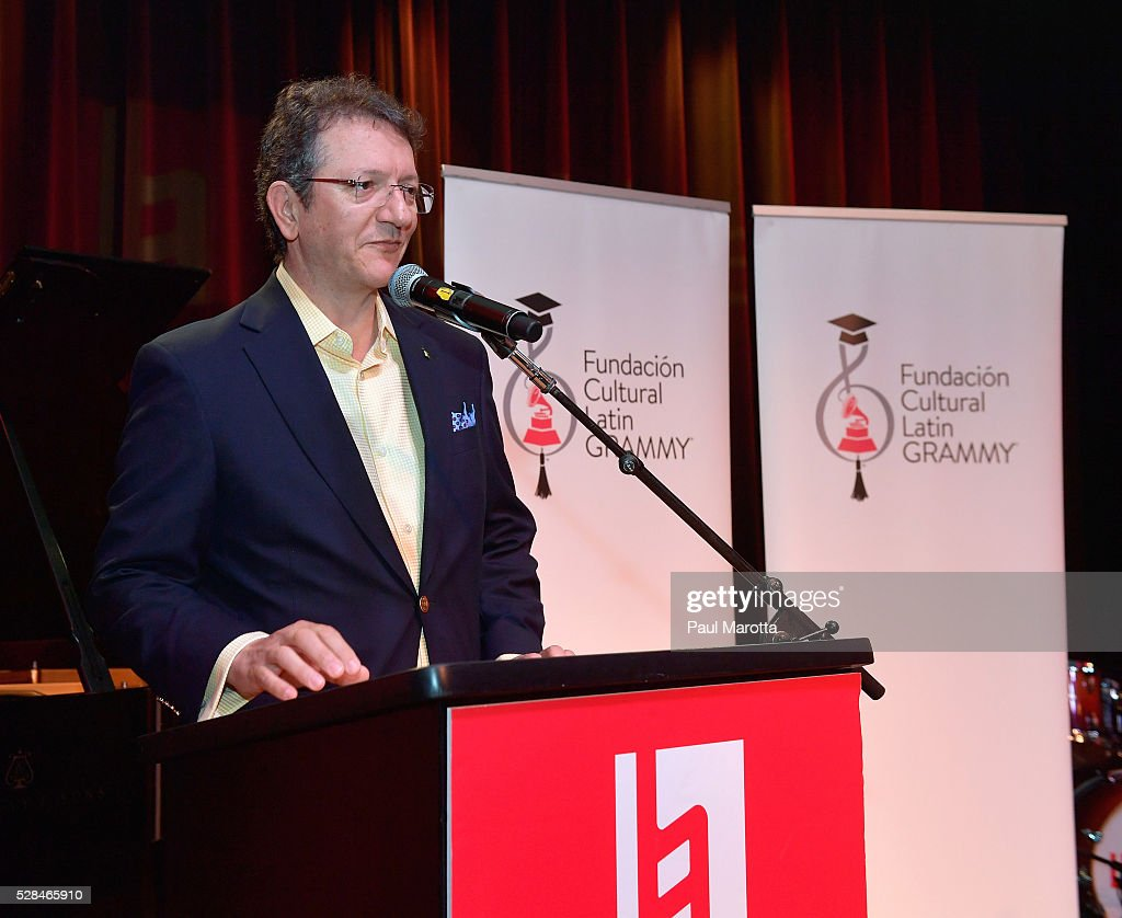 Gabriel Abaroa, president & CEO of the Latin Academy of Recording Arts & Sciences, at the Juan Luis Guerra Scholarship Presentation, presented by the Latin GRAMMY Cultural Foundation at Berklee College of Music on May 5, 2016 in Boston, Massachusetts.