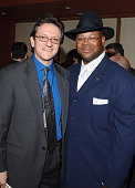 Gabriel Abaroa president of the Latin Recording Academy and Jimmy Jam