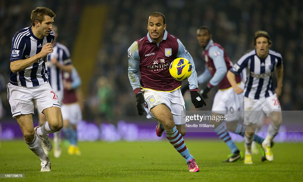 <a gi-track='captionPersonalityLinkClicked' href=/galleries/search?phrase=Gabriel+Agbonlahor&family=editorial&specificpeople=662025 ng-click='$event.stopPropagation()'>Gabriel Agbonlahor</a> of Aston Villa during the Barclays Premier League match between West Bromwich Albion and Aston Villa at The Hawthorns on January 19, 2013 in West Bromwich England.