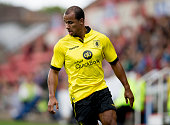 Gabriel Agbonlahor of Aston Villa during the pre season friendly match between Swindon and Aston Villa at the County Ground on July 21 2015 in...