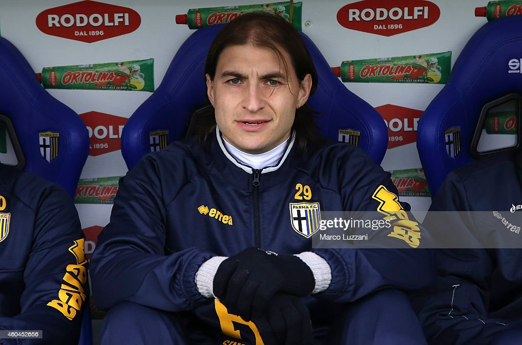 Gabriel Alejandro Paletta of Parma FC looks on before the Serie A match between Parma FC and Cagliari Calcio at Stadio Ennio Tardini on December 14, 2014 in Parma, Italy.