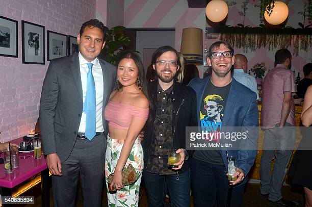 Gabriel AlonsoMendoza Rachel LeeHolland Trevor Gureckis and Jason Misrahi attend the Lower East Studios Summer Party at The Lucky Bee Hosted by Steve...