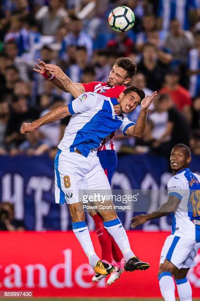 Gabriel Appelt Pires of CD Leganes fights for the ball with Jorge Resurreccion Merodio Koke of Atletico de Madrid during the La Liga 201718 match...